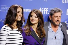 """@saadetisilaksoy  Saadet Aksoy, Penélope Cruz, director Sergio Castellitto, actor Emile Hirsch, writer Margaret Mazzantini, actors Pietro Castellitto and Adnan Haskovi attend the """"Twice Born"""" Photo Call during the 2012 Toronto International Film Festival at TIFF Bell Lightbox on September 13, 2012 in Toronto, Canada"""