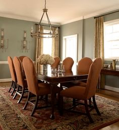 It's a dining room...but I like the color palette for a bedroom.  Pale blue Dining Room Color Schemes Dining Room Color Schemes Tips and Collection