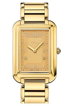 Fendi 'Classico' Rectangular Bracelet Watch, 31mm x 38mm available at #Nordstrom