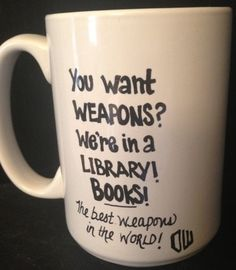 Dr WHO inspired BOOKS Quote Coffee Mug. $12.95, via Etsy.