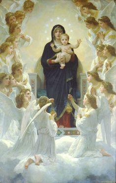 The Virgin with Angels, William-Adolphe Bouguereau. REGINA ANGELORUM, ora pro nobis.