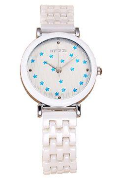 Kezzi Women's Watches K1173 Fashion Luxury Quartz Analog Blue Fujihana Dial Ceramic Bracelet Silver Watch Kezzi http://www.amazon.com/dp/B012BV9H5Y/ref=cm_sw_r_pi_dp_ovkSvb1Y4WF24
