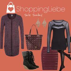 """Heute haben wir wieder ein Outfit mit besonderen Schnäppchen für euch. Unser zweiter """"Sale Sunday""""  Shirt: http://shoppingliebe.de/goto/yY1fg2fQz7 Rock:http://shoppingliebe.de/goto/N4wRlIWmkB Schuhe: http://shoppingliebe.de/goto/0J2rJg5L7v Strumpfhose: http://shoppingliebe.de/goto/4331299dfx Tasche: http://shoppingliebe.de/goto/U8lsPlMQK0 Cardigan: http://shoppingliebe.de/goto/ocIzqnIIid Ohrringe: http://shoppingliebe.de/goto/5jsqjmK3ry"""