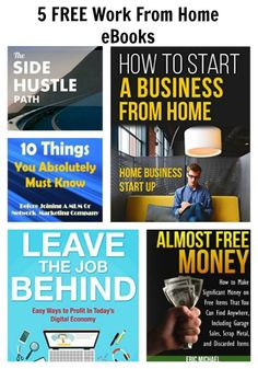 5 FREE Work From Home eBooks