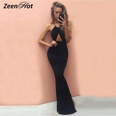 e57c39c2262c5c Sexy Women Bandage Bodycon Dress Party Club Wear long Dress Sleeveless  Summer Strapless Slim maxi Dresses