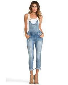 $270 NWT Terrific WILDFOX COUTURE Chloe Overall in Memory, sz S seen on Julianne #WildfoxCouture #Overalls