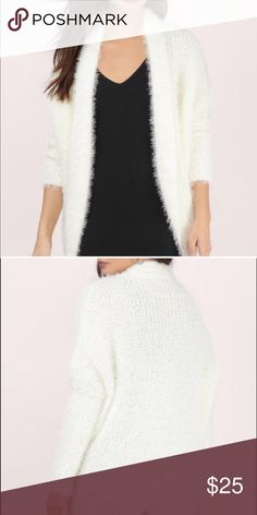 TOBI Cardigan White Cardigan from TOBI I wore this one time with my halloween costume last year for work I was an Angel it was super warm and cozy. It is a small but oversized so will fit a ML TOBI Sweaters Cardigans