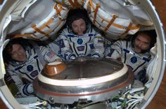 Post with 2090 votes and 4532 views. Chris Hadfield and the crew all set to leave the ISS. Chris Hadfield, First Female Astronaut, Soyuz Spacecraft, Cool Pictures, Cool Photos, Aircraft Interiors, Earth Photos, Spaceship Design, Science
