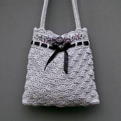 Grey sac à main au Crochet