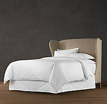 French Wing Upholstered Bed Without Footboard | Upholstered Beds | Restoration Hardware