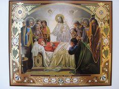 DORMITION OF THE THEOTOKOS Assumption Orthodox Icon (Metallograph, ...