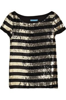 alice and olivia sequin stripped shirt. again - stripes and sequins, i can't resist.