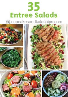 Salad for dinner can be both healthy and filling! Check out these 35 Entree Salads that are quick and easy and perfect for serving for dinner. Your family will not go hungry with these hearty, tasty recipes.
