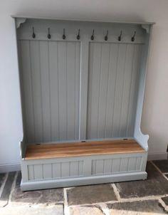 Coat Rack Bench, Bench Coats, Diy Coat Rack, Coat Rack Shelf, Wooden Coat Rack, Coat Hooks Hallway, Hallway Storage Cabinet, Hallway Unit, Hallway Ideas