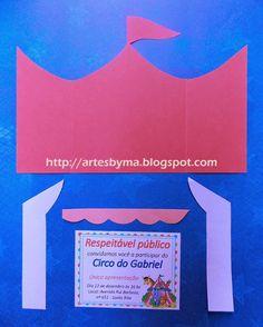 artes by Má: Festa - tema Circo = o convite