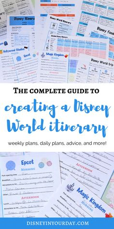 tips to create the perfect Disney World itinerary - if you're going to Disney World, you might want a plan. Whether you prefer something simple or detailed, it's good to stay organized! Everyone's approach to vacation is different so it's important to create an itinerary that's right for YOU, not just copy another itinerary you find online. Visit the website for a full list of 15 tips! Disney World Packing, Disney Cruise Tips, Disneyland Tips, Disney Vacation Planning, Disney Vacations, Trip Planning, Disney Movie Trivia, Disney On A Budget, Thing 1