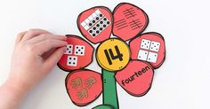 A hands-on and engaging spring math activity that helps children learn numbers!