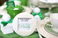 """Golf """"Tee"""" Party Ideas"""