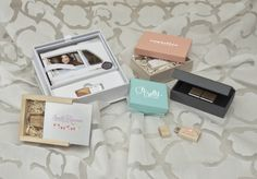 Some Ideas that can work for Wedding Clients as well as Engagement or Boudoir.  #Presentation #branding #packaging #FlashDrives #photographers