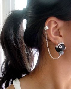 So excited for her to make more of these cuff earrings. Best chomp from super mario bros earrings ever!