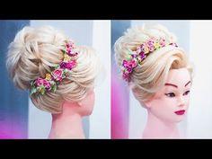 ◉ПРИЧЕСКА ◉ Высокий пучок БЕЗ ПЛОЙКИ !!! ◉ Updo hair tutorial for medium hair. ◉ LOZNITSA - YouTube