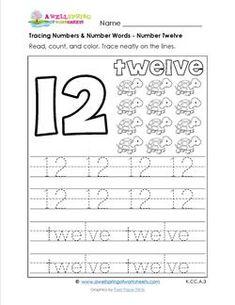 Number writing worksheet - 12