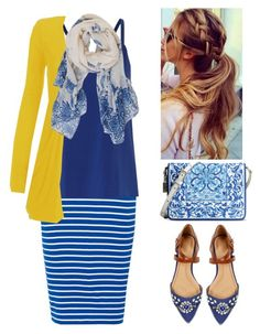 """""""Sunshine & Blue Skies """" by jvs8384 ❤ liked on Polyvore featuring Bailey 44, Alice + Olivia, WearAll, Humble Chic, Dolce&Gabbana and Ellen Tracy"""