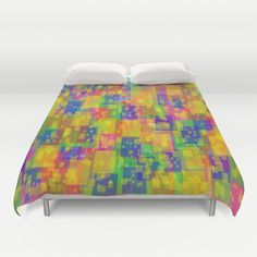 Small colorful squares  Duvet Cover by Robleedesigns - $99.00