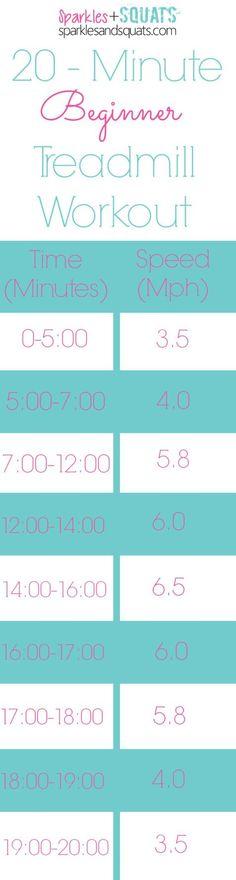 20 Minute Beginner Treadmill Workout