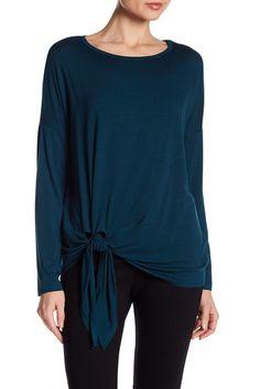 Image of Karen Kane Long Sleeve Side-Tie Top