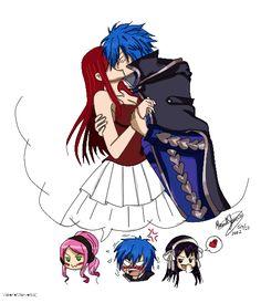 Meredy ships Jerza :D -Fairy Tail Fairy Tail Funny, Fairy Tail Love, Fairy Tail Art, Fairy Tail Guild, Fairy Tail Ships, Fairy Tail Anime, Fairy Tales, Nalu, Fairytail