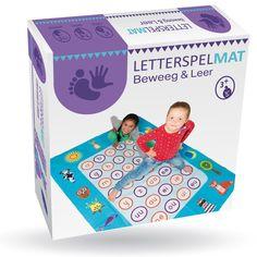 Letterspelmat Beweeg & Leer De Letterspelmat combineert actie en leren in een vrolijk en leuk spel voor kinderen vanaf circa 5 jaar oud