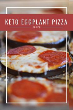 Keto Eggplant Pepperoni Pizza- So cheesy, ooey and gooey. You won't miss traditional crust with this keto dinner recipe! Source by sizzlingeats Eggplant Pizza Recipes, Eggplant Pizzas, Eggplant Pasta, Keto Diet List, Starting Keto Diet, Ketogenic Diet, Keto Diet Drinks, Keto Cocktails, Keto Snacks