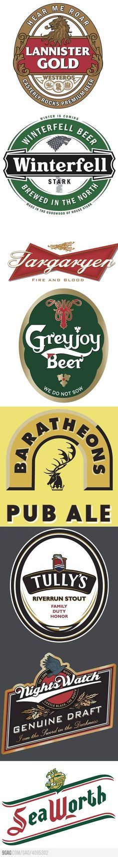 Game of Thrones - Beer Labels