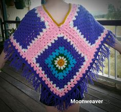 HOTH - Granny Daisy Poncho  Crocheted by Moonweaver 🕉 #jaydainstitches #bobwilson123 #Moonweaver