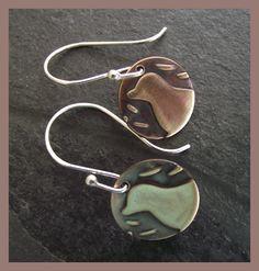 Little Bird -  Sterling Silver and Bronze Earrings - handmade