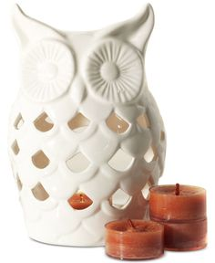 Yankee Candle Harvest Owl Luminary Owl Home Decor, White Home Decor, Aesthetic Galaxy, Yankee Candle, Owl House, Holiday Wishes, White Houses, Harvest, Candle Holders