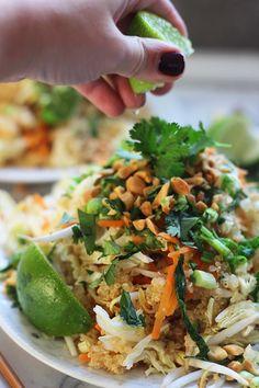 Make Quinoa Pad Thai with this creative healthy dinner recipe.