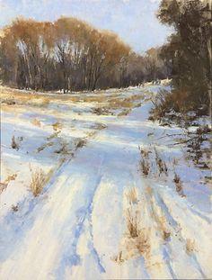 "Field Near Mount Misery by Jacob Aguiar Pastel ~ 16"" x 12"""