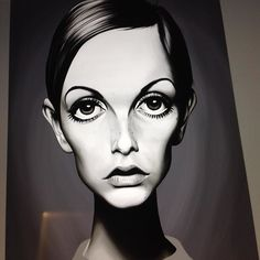 Twiggy - face complete just clothing to do. #celebritysunday #twiggy #wip #illustration #robart #digital #caricature #print #art #model #sixties instagram   art   ideas   follow