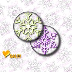 Valentine Sale Digital collage sheet snowflake images 2 inch circle key chain scrapbooking sheet pocket mirror round images by StudioDprint
