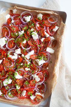 Wine Recipes, Real Food Recipes, Salad Recipes, Yummy Food, Healthy Recipes, Healthy Food, Caprese Salad, Bruschetta, Vegetable Pizza