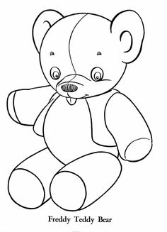 Kid Teddy Bears Coloring Pages Printable Free Kids Bear Sheets For PreK