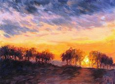 Brier Ridge Sunset by Suzanne Massion Oil ~ 6 x 8