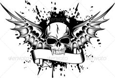 Buy Skull with Wings by on GraphicRiver. Vector image skull with wings Skull Coloring Pages, Adult Coloring Book Pages, Disney Coloring Pages, Skull Tattoos, Body Art Tattoos, Crane, Harley Quinn Drawing, Totenkopf Tattoos, 4 Tattoo