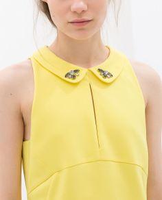 Image 5 of PETER PAN COLLAR DRESS WITH RHINESTONES from Zara