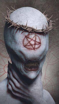 New Eye Creepy Horror Ideas Fantasy Kunst, Dark Fantasy Art, Portraits Illustrés, Satanic Art, Horror Artwork, Arte Obscura, Demon Art, Creepy Horror, Macabre Art