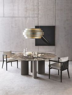 A collection of our favourite dining rooms. Including jaw-dropping chandeliers, wall sconces, dining table lamps and contemporary dining room furnishings. Luxury Dining Room, Dining Room Lighting, Dining Room Design, Dining Rooms, Modern Dining Table, Dinning Table, Table Lamps, Dining Chairs, Round Marble Table