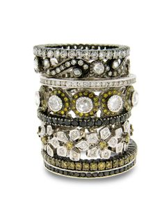 Sethi Couture Stackables Nontraditional Engagement Rings Bijou Box Stackable Collection