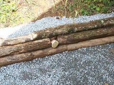 log retaining wall